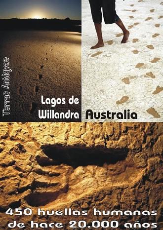 Hallan huellas humanas de la era glacial en Australia. Podrían pertenecer a hombre de 2 metros.