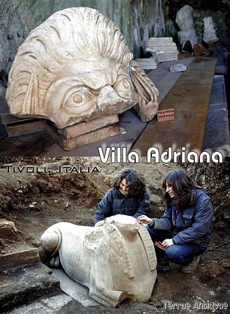 Tivoli, Italia. Descubren piezas arqueológicas del siglo II en la Villa Adriana