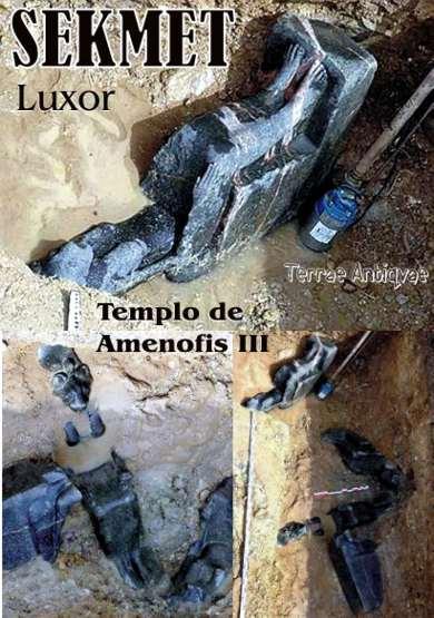 Descubiertas seis estatuas de una diosa de la época faraónica en Luxor
