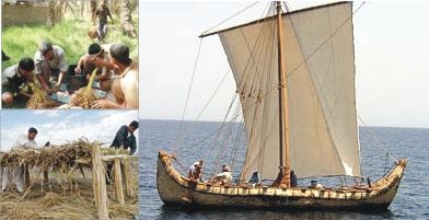 Investigadores buscan navegar en embarcación de juncos a través del Mar de Omán