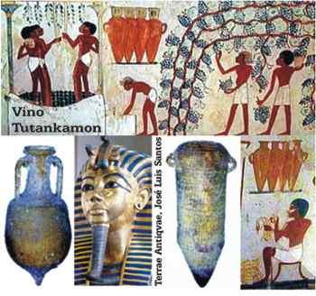 Los faraones egipcios disfrutaron del vino tinto