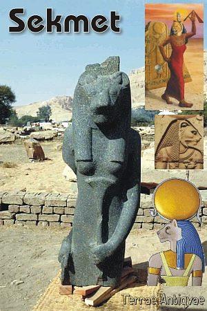 Halladas en Egipto dos estatuas de diosas y una de un rey nubio