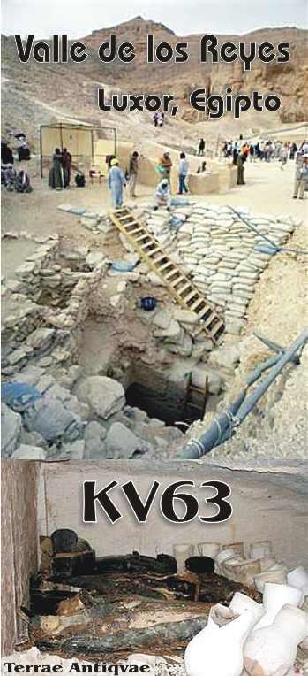 Hallada una tumba intacta de la época de Tutankamón en el Valle de los Reyes de Egipto. La KV63