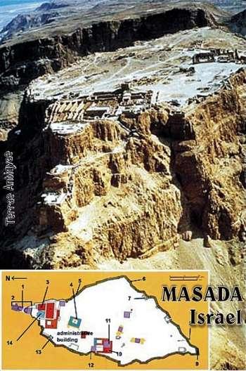 Masada, Israel. La fortaleza de los zelotes