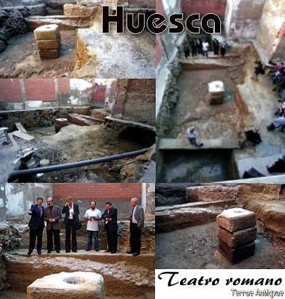 Huesca. Hallados restos del teatro romano en la calle Canellas