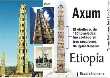Etiopía recupera la última sección, la base, del obelisco de Axum