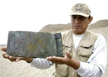 Perú. Hallan corona y diadema de cultura Moche en Dacha de La Luna