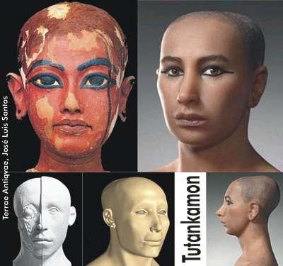 Egipto expone un busto similar al modelo Tutankamón en el Museo Egipcio