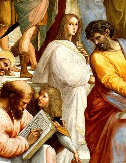 Hypatia Escuela de Atenas Rafael Sanzio