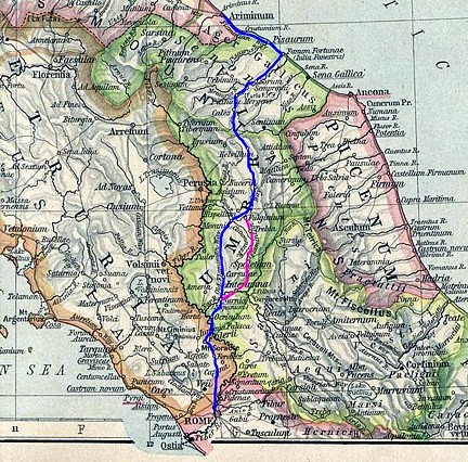 Via Flaminia mapa 01