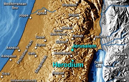 Mapa Herodium