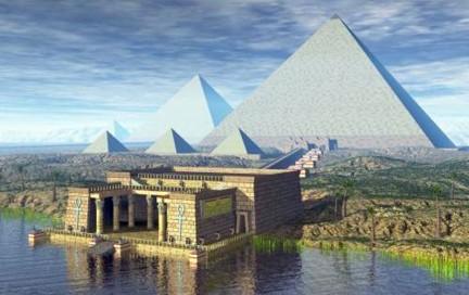 Pirámide Khufu Guiza Nilo ta