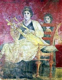 Trono madera Villa de los Papiros Herculano 001