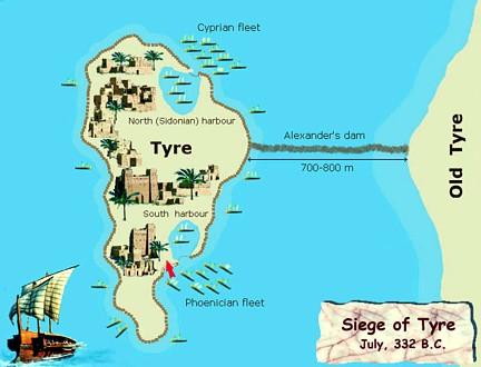 Sitio de Tiro Alejandro julio 332 aC ta