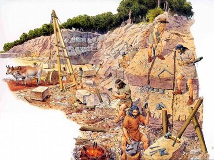 cantera piedra etruscos