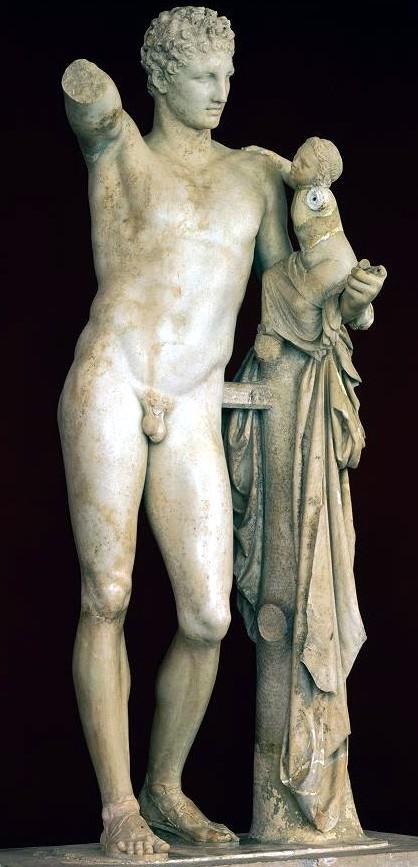 Praxíteles Hermes y Dionisos TA