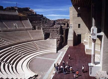 Gradas actuales Teatro Romano Sagunto