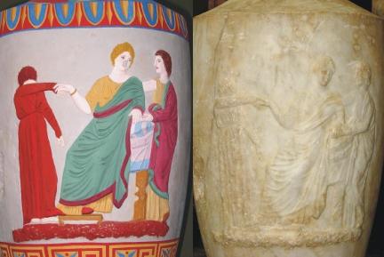 Attisk gravlekythos 350-320 aC