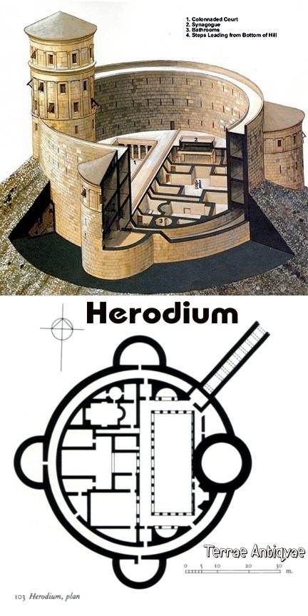 Herodium reconstrucción y planta