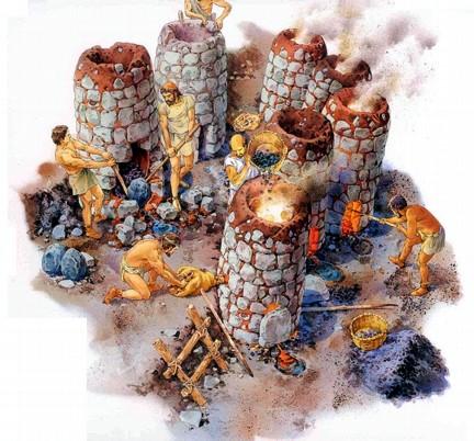 hornos fundición etruscos