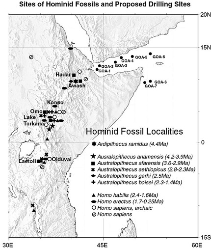 HominidFossilLocalities