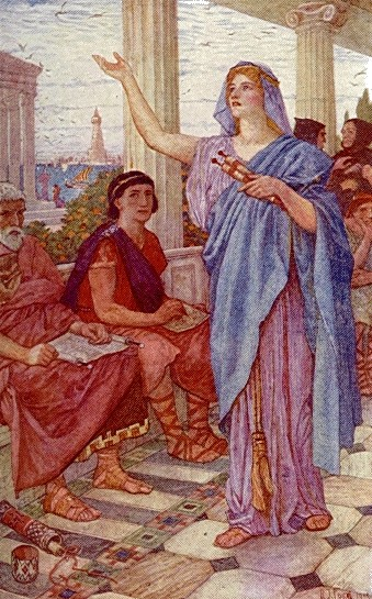 Sinesio escucha a Hipatia