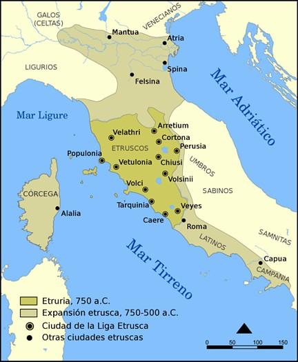 Mapa civilizacion etrusca TerraeAntiqvae