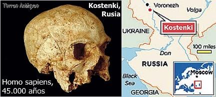 Homo sapiens 45000 años