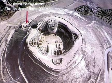 Localización tumba Herodes en Herodión