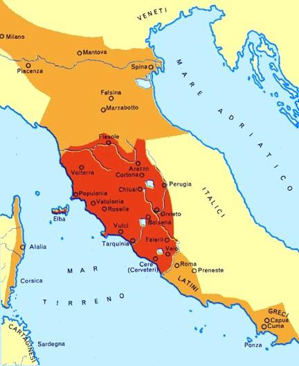 mapa etruschi
