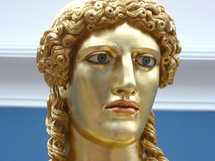 Apollon Parnopios af Fidias 450 aC cabeza