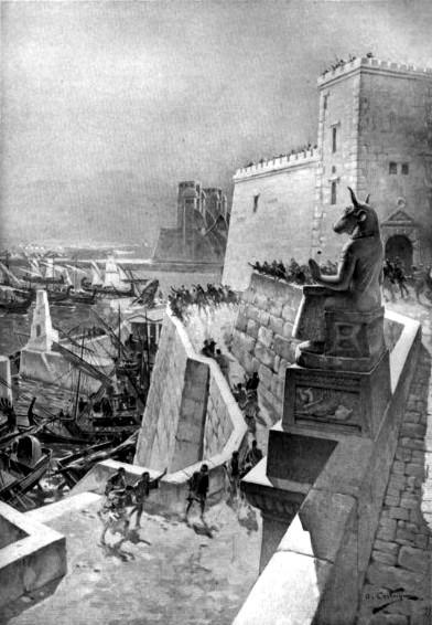 Asedio de Tiro Alejandro por André Castaigne ta