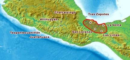 MapaSitiosOlmecas