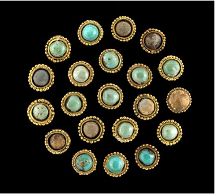 Afganistán placas Tillia Tepe cornalina