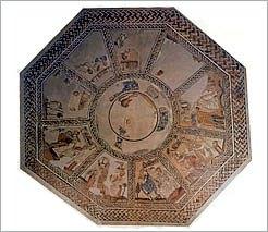 Arellano, Navarra. Restauran un mosaico romano de 94 m². de la Villa romana de Las Musas