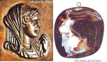 Olimpia de Épiro (375-315 a.C.), esposa y madre de dioses.