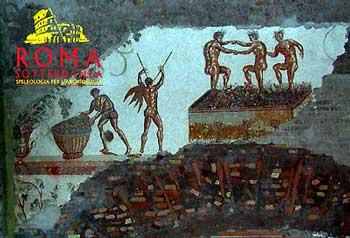 El mosaico del Colle Oppio. Los Vendimiadores de Nerón